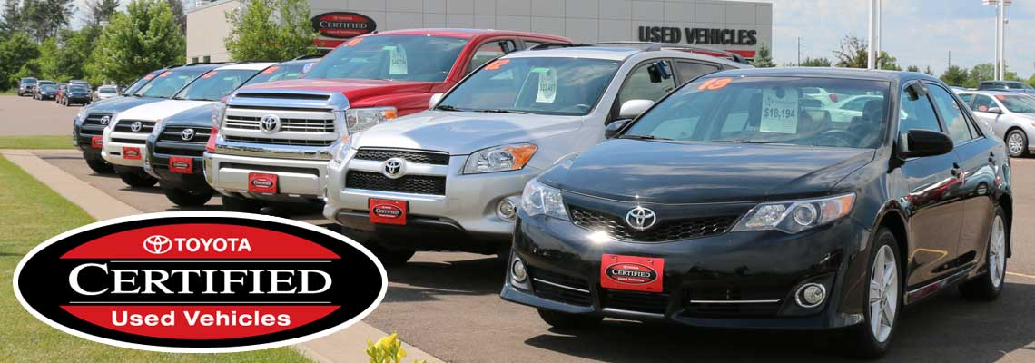 tcuv toyota certified used cars near eau claire wi markquart. Black Bedroom Furniture Sets. Home Design Ideas